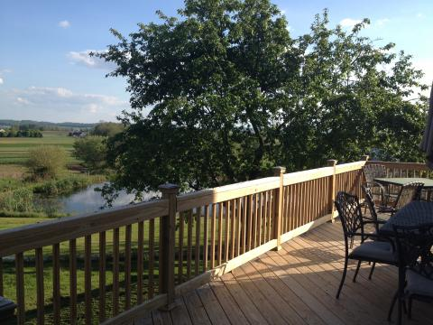 Spacious deck with beautiful view